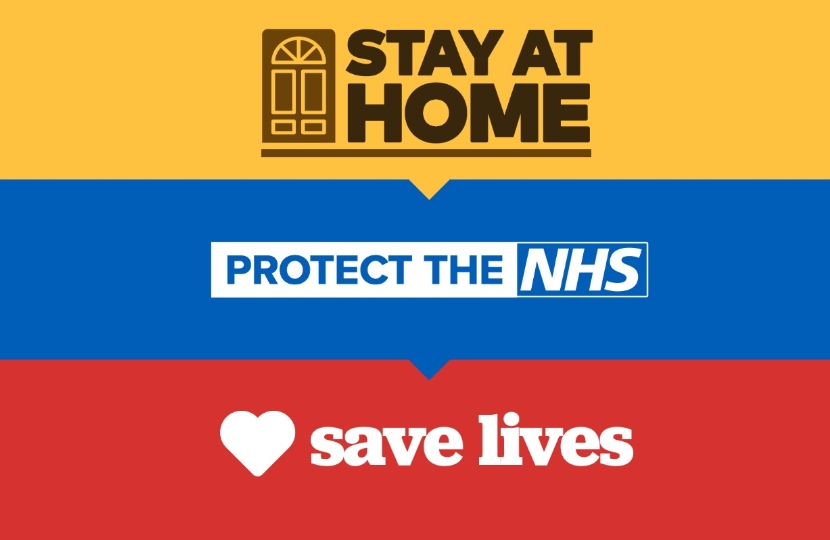Stay Home -> Protect the NHS -> Save Lives
